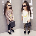 2016 spring Children Clothing Baby Girls Long Sleeve T shirt Dress banana printed Girl t-shirt Kids Tops Tees Fashion Clothes