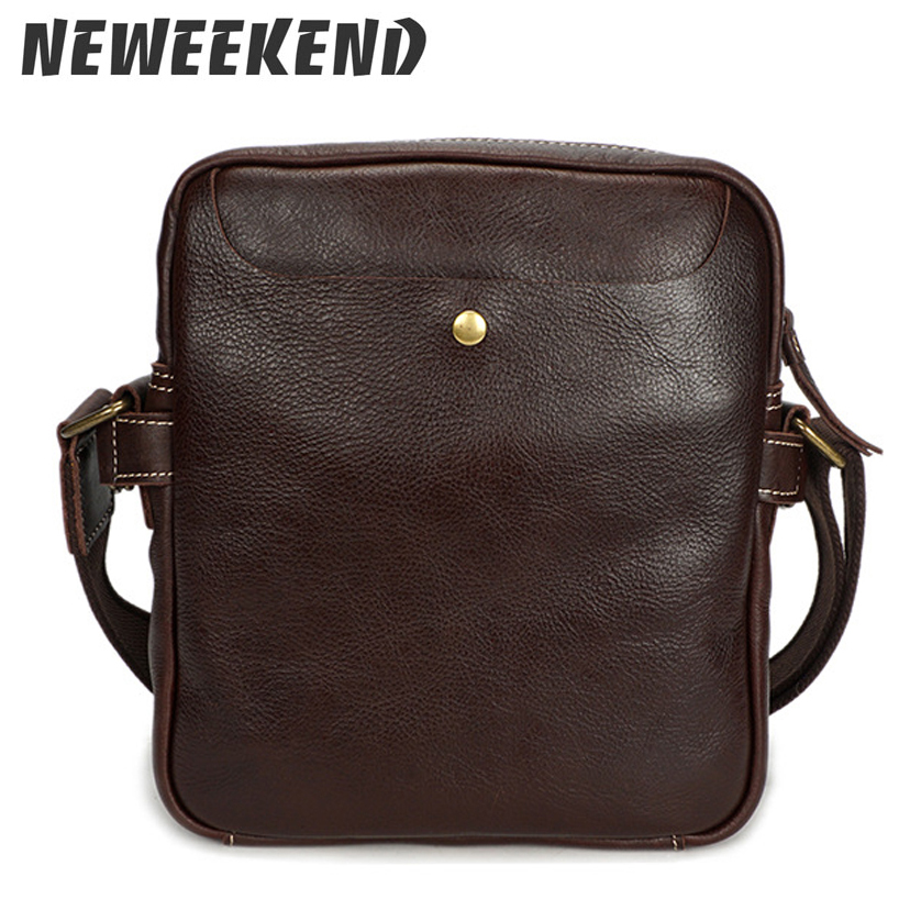 Men s Vintage Style Genuine Leather Crossbody Messenger Handbag Shoulder  Sling Bag For Male Man YD8159 bec07fc06