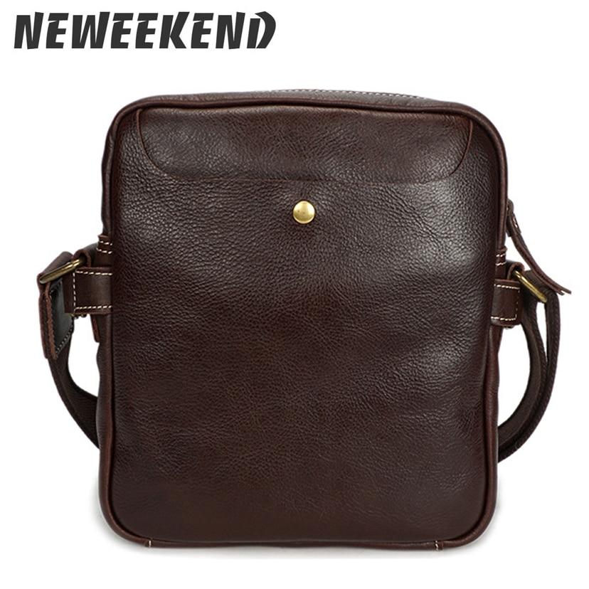 d0db9ccf9776 Men s Vintage Style Genuine Leather Crossbody Messenger Handbag Shoulder  Sling Bag For Male Man YD8159