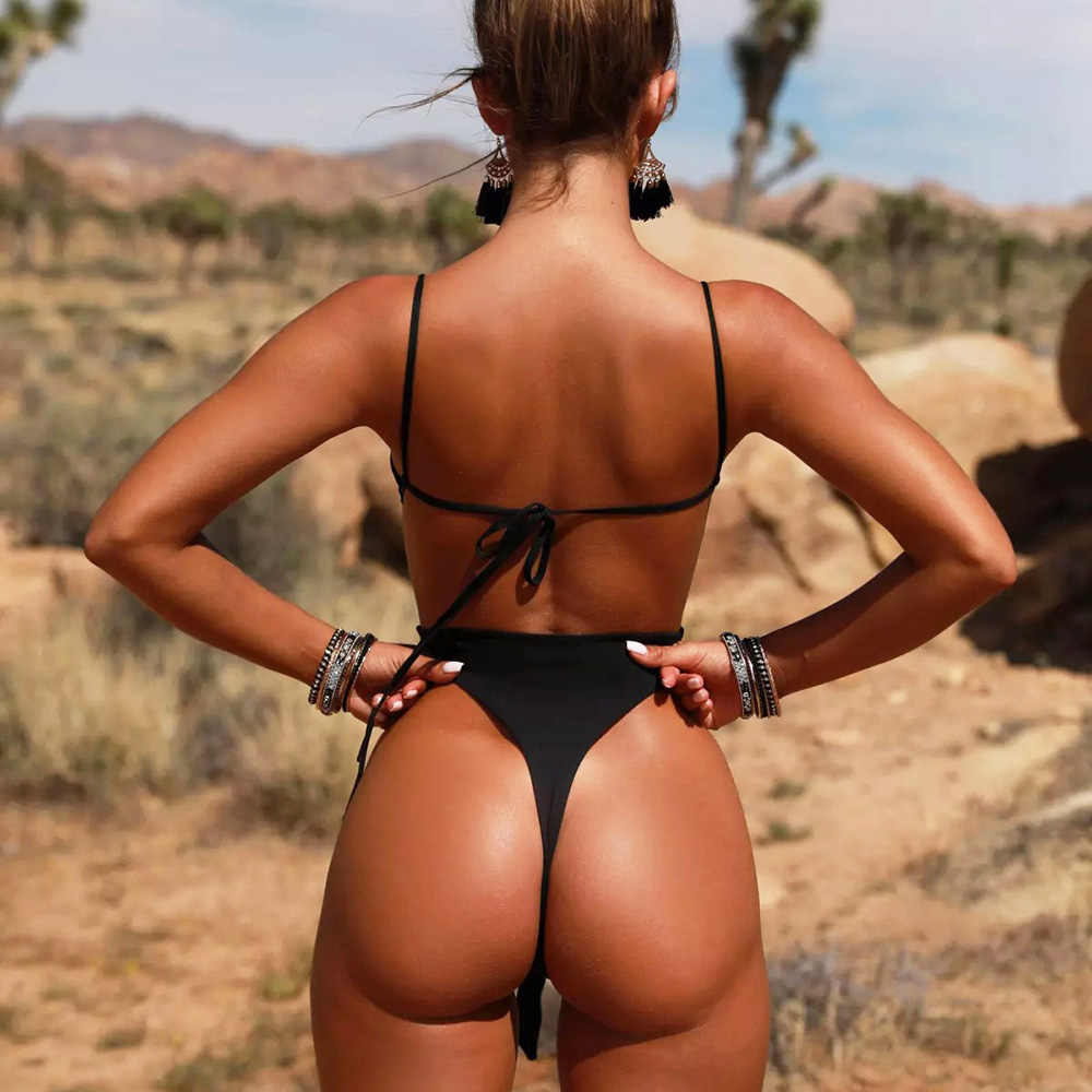 Monokini 2019 New One Piece Swimsuit Solid Sexy Swimwear Female One-piece Swimming Suit For Women Bathing Suit May Beach Trikini