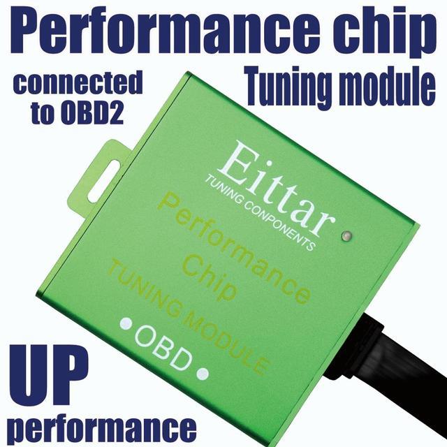 Módulo de ajuste de chip de rendimiento Eittar OBD2 OBDII excelente rendimiento para Jeep Wrangler 2003 +
