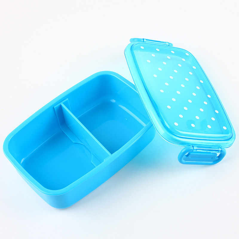Lanche de frutas Portátil Lancheira Microondas Caixas Dot Escola Sushi Food Container Bento Box Lunch Box Louça