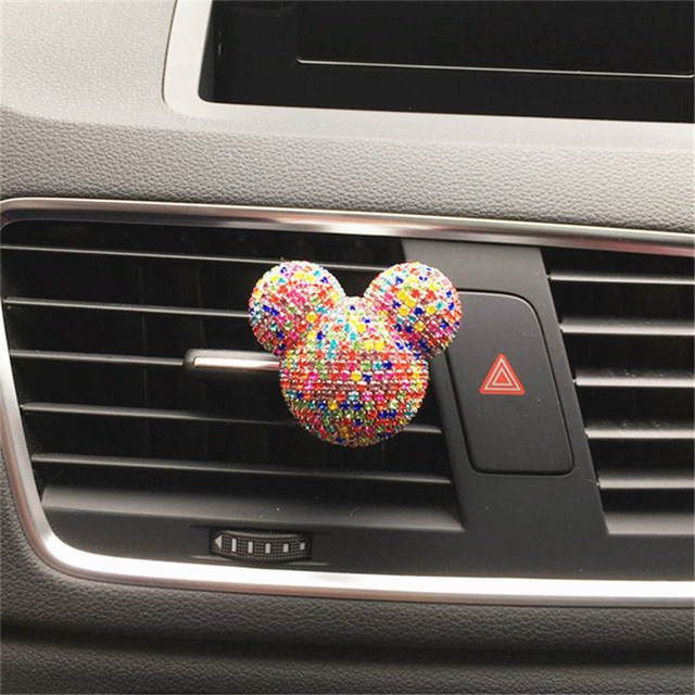 Luxury Car perfume Diamond Air conditioner Outlet clip Interior decoration Car Air Freshener Car Styling Perfumes 100 Original 4