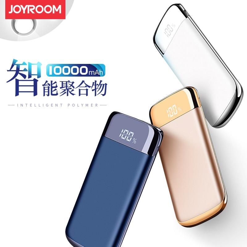 imágenes para Joyroom 10000 mAh Banco de la Energía Portable LED Del Cargador de Baterías Externas de Doble Puerto USB de Carga Rápida para Teléfonos Tableta