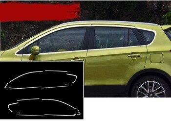 Exterior em aço inoxidável Janela Trims Tampa do Peitoril acessórios do carro para suzuki SX4 S Cross-2013 2014 2015 2016 2017 2018 Car Styling