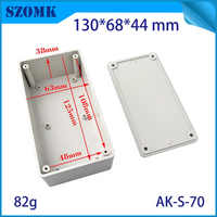 10 pcs, 130*68*44mm light grey abs plastic enclosure for electrical equipment hot selling plastic housing distribution box