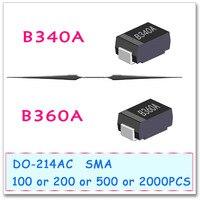 B340A B360A SMA 100PCS 200PCS 500PCS 2000PCS DO-214AC B340 B360 SMD Schottky High quality