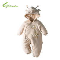 Winter Cotton Infant Baby Romper Boys Girls Jumpsuit Cute Giraffe Romper Baby Clothes Newborn Bebe Climb