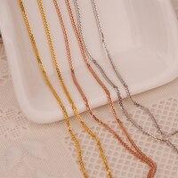 Robira الذهب الحقيقي 18 كيلو الصلبة اللون رابط سلسلة 18