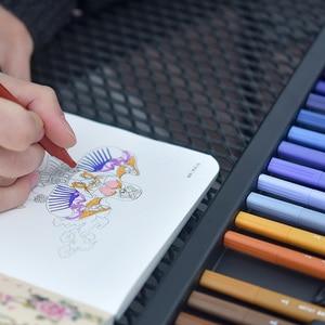 Image 5 - KACO, bolígrafos de acuarela de doble punta, pincel no tóxico y bolígrafo de escritura para dibujar, juego de regalo, 100 colores con bolso
