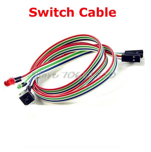 Pc Case Cables : Pcs pc desktop computer case atx power on reset switch