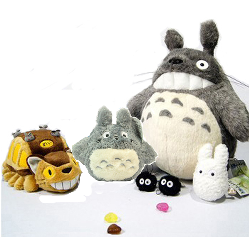 6pcs/set Catbus Totoro Plush Toys For Children High quality My Neighbor Totoro Family Set Peluche 2017 new 6pcs stuffed animals my neighbor totoro family plush set pelucia kids toys upgrade ghibli catbus peluche