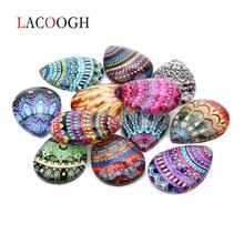 20Pcs/lot 10X14/13X18/18X25/20X30mm Mixed Handmade Photo Glass Drop Style Cabochons Pattern Domed Jewelry Accessories Supplies