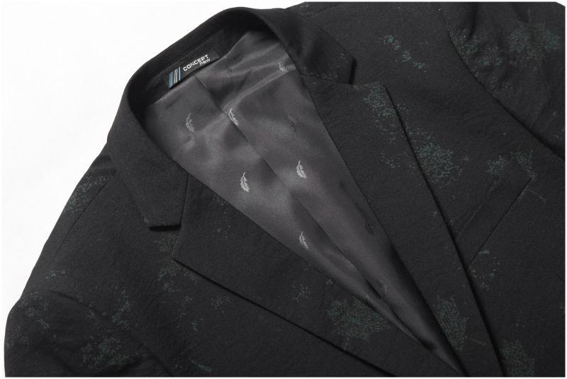 2018 Casual Pecho Moda Traje Hombre Blazer Marca Slim Hombres Solo Fit Otoño  Invierno Ropa Para Negro Chaqueta rYqrwP 9ffc89708af