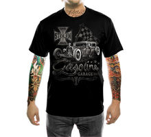 100% Katoen Voor Man Shirts Hot Rod Benzine Garage T shirt Herren V8 Oldtimer Biker Rockabilly Print Tee Shirts