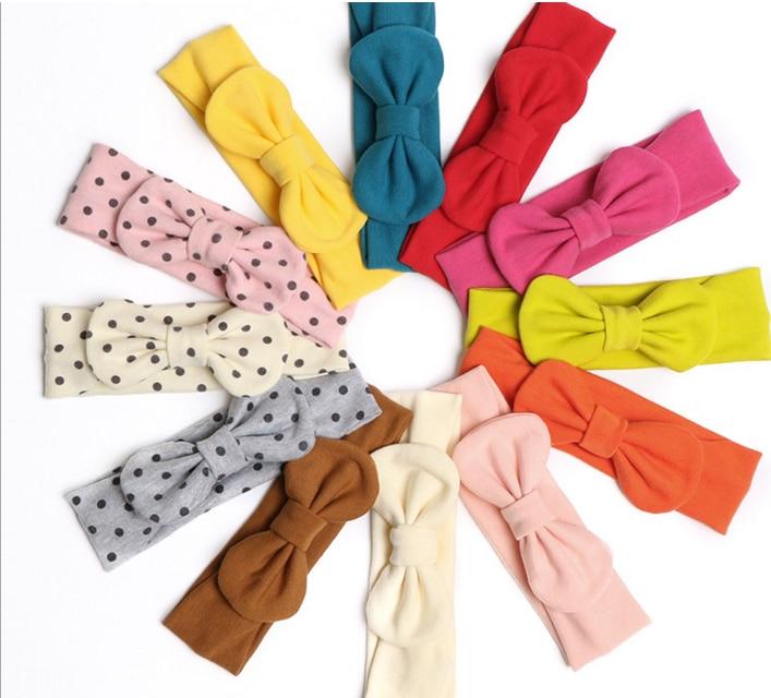 New 24pc lot Girls Head wraps Fabric Bow Headbands Top knot headband Babe Shower Gift Girl