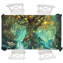 Psychedelic Wishing Tree Rectangular Tablecloth Waterproof Round Table Cloth Halloween Cover nappe de table rectangulaire