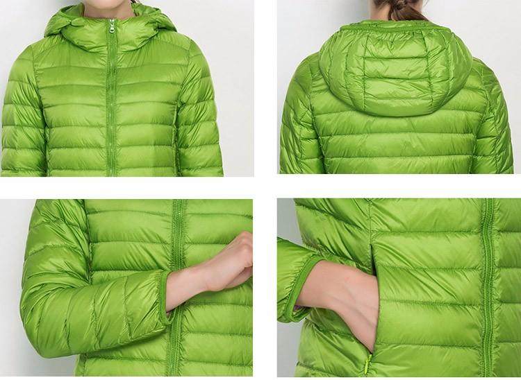 Women Long Sleeve Ultra Light Down Jackets/Coat