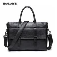 Nice New Man Retro Handbag PU Leather Business Messenger Bag Men Computer Shoulder Bag Briefcase Travel Bags