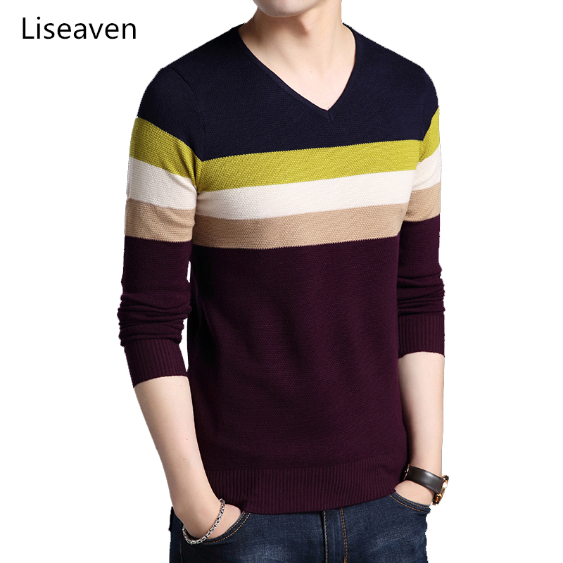 Liseaven Sweater Men Cashmere Pullovers Christmas Sweater Mens Knitted Sweaters Pull Homme