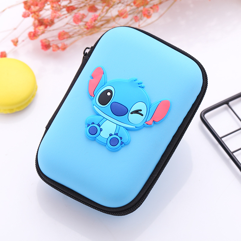 Novelty Cartoon Eva Silicone Coin Purse Earphones Storage Package Square Zipper Bags Creative Gift Kids Anime Coin Key Purse Coin Purses & Holders Luggage & Bags
