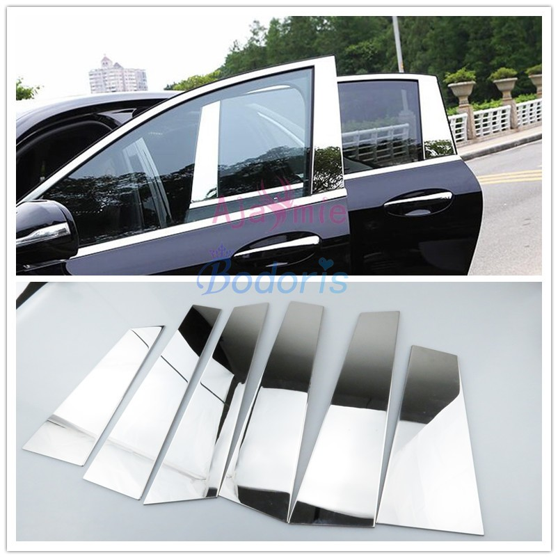 Accessories Fit For Mercedes Benz 2016 2018 E Class W213 Stainless Steel Window Glass Moulding Trim