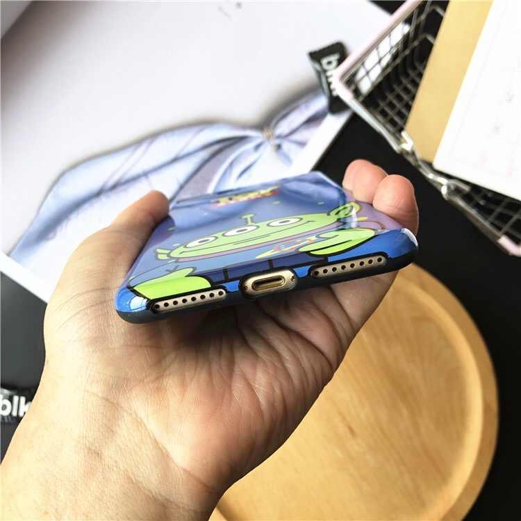 Мультфильм Аниме История игрушек Базз Лайтер чехол для iphone7 чехол три глаза глянцевый силиконовый чехол для iphone6 6s 7 8 plus xs max xr