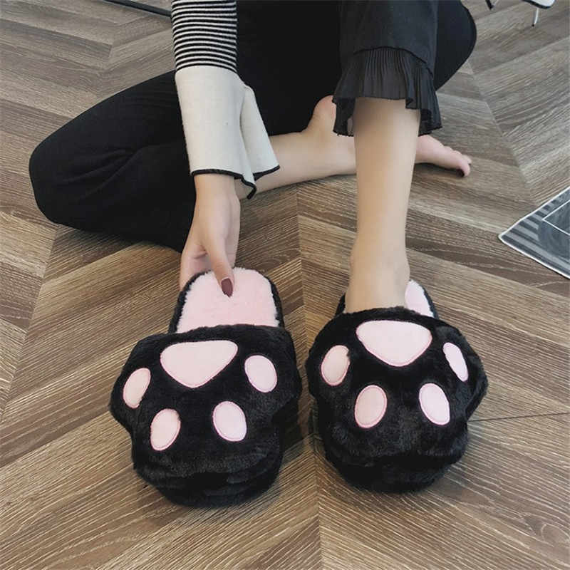 COOTELILI Women Home Slippers Slip on Indoor House Slippers with Plush Non-slip Winter Slides Warm Shoes Free Size Suit For35-40