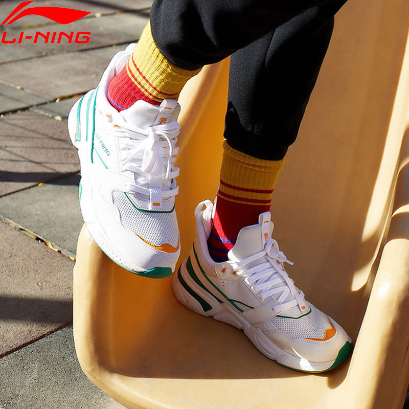 Li-Ning <font><b>Men</b></font> 001 CLASSIC Lifestyle <font><b>Shoes</b></font> Retro Dad <font><b>Shoes</b></font> Comfort <font><b>LiNing</b></font> li ning Sport <font><b>Shoes</b></font> Leisure Sneakers AGCP021 YXB260 image