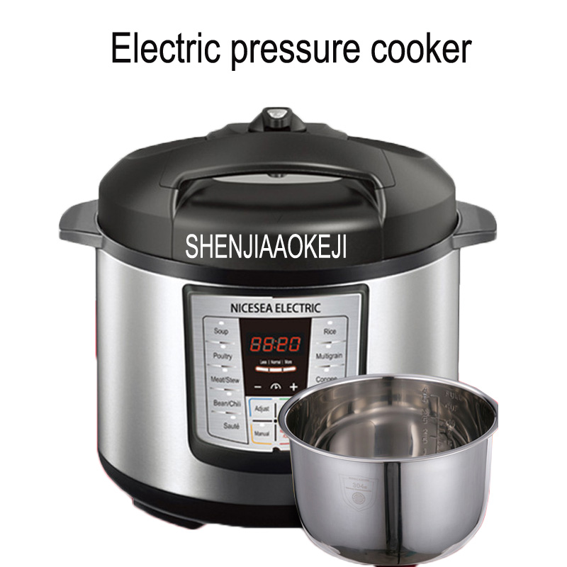 110V 5L Home Electric pressure cooker Double bile intelligent household electric cooking machine Electric rice cooker 1pc w13pcs503e electric pressure cooker double gall intelligent electric pressure cooker rice cooker 5l genuine home