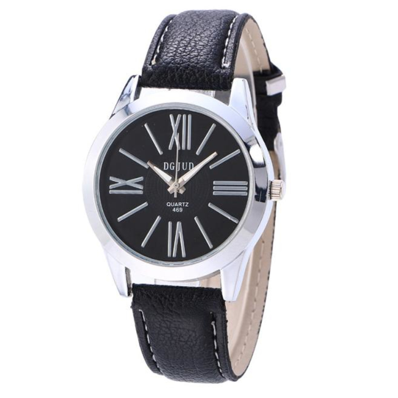 Excellent Quality New Fashion Faux Leather Men Blue Ray Glass Quartz Analog Watches Casual Cool Watch Brand Men Watches