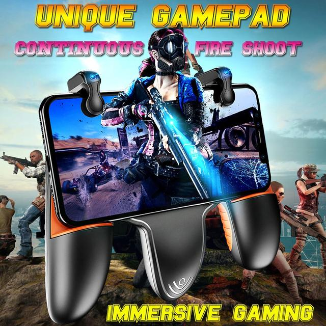 Mobile Gamepad Controller Phone Grip 5.0~6.5 Inch For Xiaomi Iphone Samsung Joystick For Pubg Fast Shooting With Cooling Fan