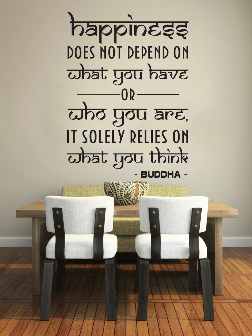 decorative wall signs quotes promotion shop for promotional happiness wall decal quote vinyl wall stickers buddha sign words happiness room decor bedroom yoga studio decor mural jw125