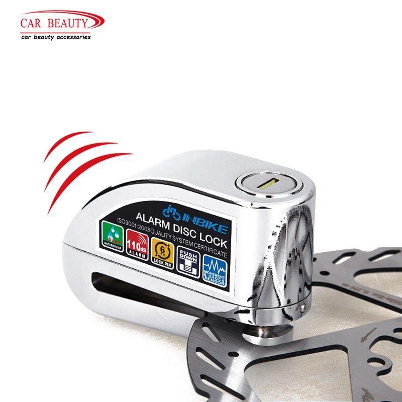 6mm Locking Pin Alarm Disk Lock for for Motorcycle Bicycle 110db Sound Anti theft Bike Security Brake Lock