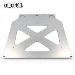 Ultimaker 2 um2 z mesa base placa plataforma suporte de apoio placa cama quente aquecida alumínio para peças impressora 3d