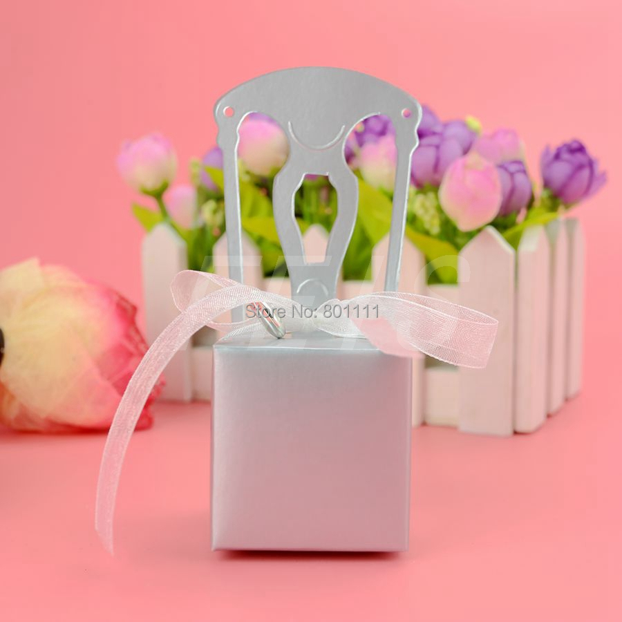Miniature Silver Chair Favor Box paper box wedding favor boxes Party ...