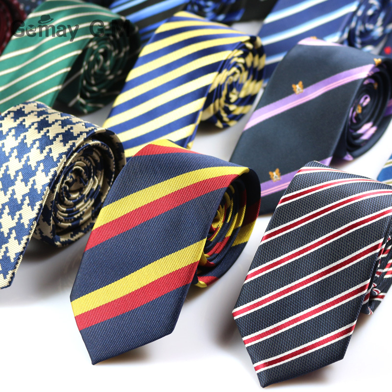 მამაკაცის კოსტუმი ჰალსტუხი კლასიკური მამაკაცის ზოლიანი ყელსაბამი ოფიციალური ტანსაცმელი ბიზნეს Bowknots ჰალსტუხი მამაკაცის პოლიესტერი გამხდარი თხელი ქუდები