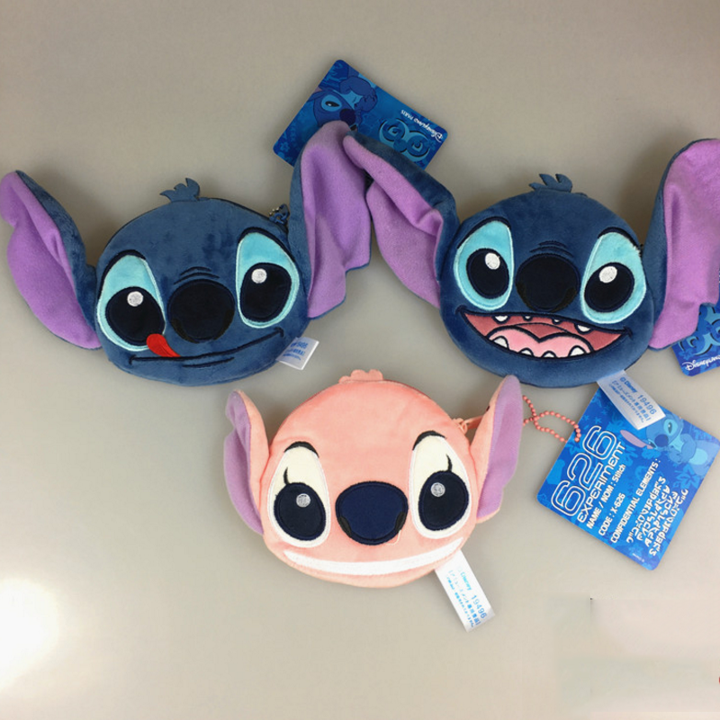 1pcs New Hot Lilo Stitch Scrump Angel Coin Purse Unisex Wallet Multi-functional Kawaii Bag Cartoon Animal Plush Purse Toys