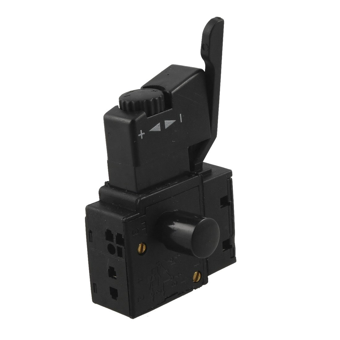 THGS FA2-6/1BEK SPST Lock on Power Tool Trigger Button Switch Black 5e4 ac 250v 4a speed control lock on trigger switch spst for electric drill
