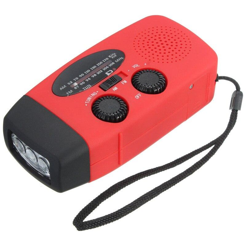 Высокое качество чрезвычайная Солнечный рукоятки Ветер до 3 светодиодный фонарик факел AM/FM/WB Радио Зарядное устройство