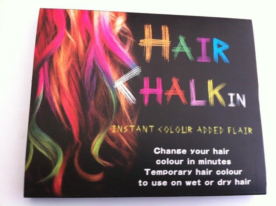 6 Colors Dye Hair Sticks Jumbo Chalk Temporary Bright Color Hair