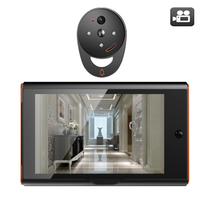 MOUNTAINONE Wireless Digital 7 Peephole Viewer Home Security Doorbell,PIR Motion Detection&Recording Big angle view+32G TF Card