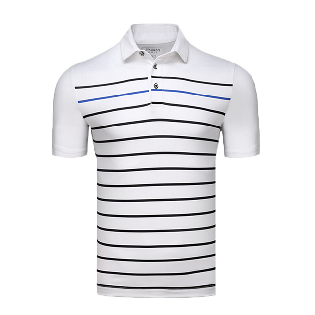 0d0ff5717 NEW Men s Tshirt Short Sleeve T-Shirt Golf Apparel Stripe Polo Shirt  Competition Suit