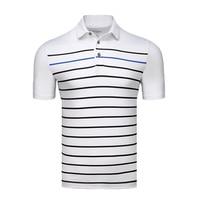 NEW Men's Tshirt Short Sleeve T Shirt Golf Apparel Stripe Polo Shirt Competition Suit