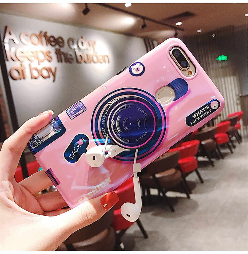 Blue-ray Camera case for Xiaomi Mi 9 8se 5X A1 A2 MIX2 MAX2 3 Pro NOTE3 Redmi 7 Y3 Note 7 6 5 Pro soft cover Lanyard and Bracket