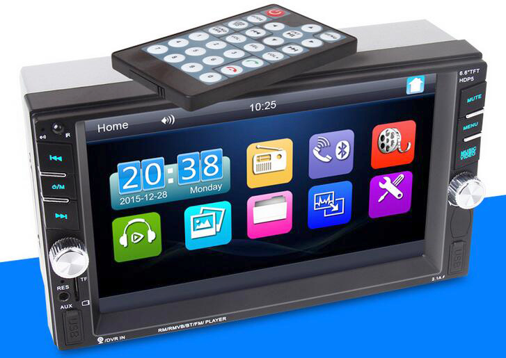 imágenes para Reproductor de Vídeo del coche 2 din (NO android) Pantalla Táctil Bluetooth Stereo Radio FM/1080 P/MP5/MP4/Audio/USB Electrónica Automotriz En Rociada 2Din