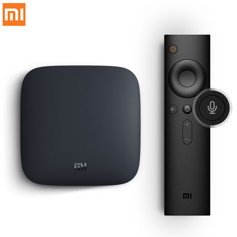 Internationalen Xiao mi mi BOX 3 Android 6.0 Smart WIFI Bluetooth 4 karat HDR H.265 Set-top TV Box Youtube netflix DTS IPTV Media Player