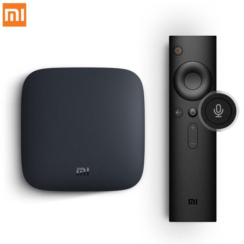 Internationalen Xiao mi mi BOX 3 Android 6.0 Smart WIFI Bluetooth 4 karat HDR H.265 Set-top TV Box Youtube netflix DTS IPTV Media Player
