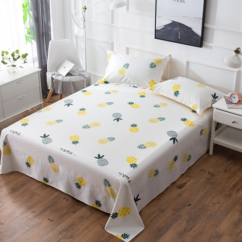 Bed Flat Sheets Pretty Multicolored Small Pinele Pattern Twin King Queen Size Sheet Fashion Cotton Mattress Cover L In From Home Garden