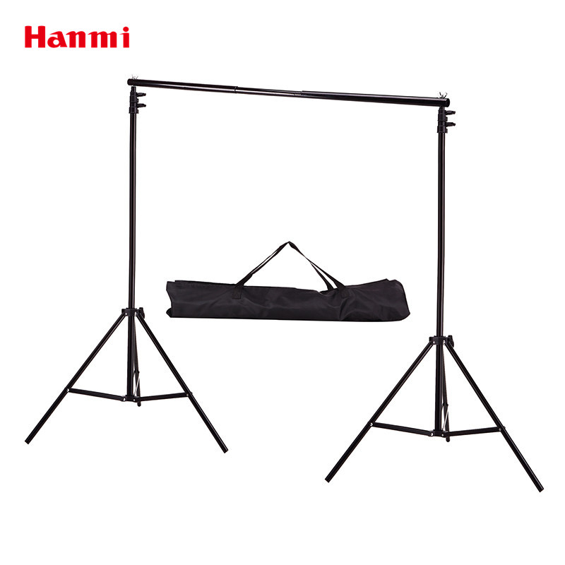 Hanmi 2M*2M Background Stand Support System Kit Photo Studio Accessories Photography Backdrop Photo Background With Carrying Bag lightdow 2x3m 6 6ftx9 8ft adjustable backdrop stand crossbar kit set photography background support system for muslins backdrops